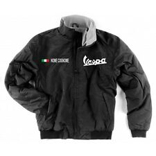 GIUBBINO JACKET VESPA NERO BLACK INTERNO PILE SCALDACOLLO PATCH SHIRT MOTORRAD