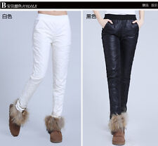 Winter Woman Warm Down Pants Slim Fit White Duck Down Padded Ladies Trousers