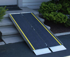 Low Rise Threshold Mobility Access Ramp Handicap Wheelchair Scooter Loading Ramp