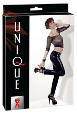 Leggings Mixte Latex Noir Pantalon Fetish Rubber Trousers Unisex