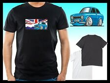 KOOLART CLASSIC BRITISH Mk1 FORD ESCORT MEXICO mens or ladyfit t-shirt top B/W