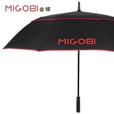 MIGOBI Long Handled Semi-automatic Double Deck Men Golf Wind-proof Umbrellas
