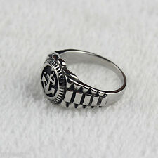 Classic Punk Men's Silver 316L Stainless Steel Anchor Ring Cool