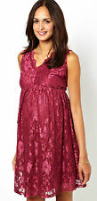New Asos Maternity size 6 - 18 Raspberry Red Pink Lace Skater Empire Party Dress