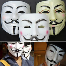 Bright V for VENDETTA Halloween Cosplay Costume Mankind Party Fawkes Face Mask