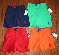 Ralph Lauren Polo Big Pony Sanibel Solid Swim Trunks Boys 4-7