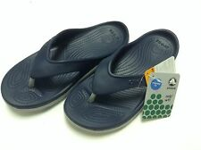 Crocs Duet Sport Flip Flops Navy Lt Grey Unisex Men Women All Size $40.00 SALE