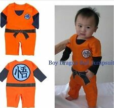 LONG SLEEVES* Dragonball Z Son Goku KungFu Baby Bodysuit Party Costume Dress