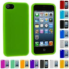 For Apple iPhone 5 5G Color Silicone Gel Rubber Soft Skin Case Cover Accessory
