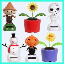 Solar Dancing Flowers Bugs Animals Novelty Collectible Toys Crazy Shake Dancers