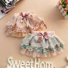Retro Sweet Girl Floral Tutu Dress Kid Princess Petal Flower Layered Skirt 2-6Y