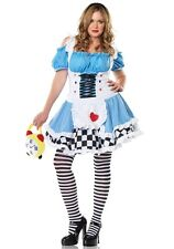 Miss WONDERLAND Adult Womens Plus Size Costume Alice in Wonderland Outfit