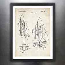 SPACE SHUTTLE 1975 PATENT ART PRINT POSTER GIFT NASA SPACECRAFT ROCKET DRAWING