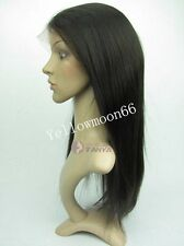 """Women hot wig 14""""-20"""" silky straight 100% indian remy human hair full head wigs"""