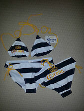 STRIPED CORONA OFFICIALLY LICENSED STRING BIKINI SWIM WEAR SUIT all sizes