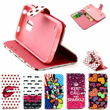 Fashion Designed Card Slot Leather Stand Case Shell for Samsung Galaxy S5 Mini