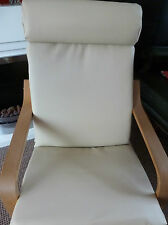 CUSTOM MADE FAUX LEATHER COVER  TO FIT THE IKEA POANG CHAIR MANY COLOURS