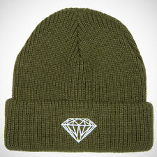 RRP £25 Diamond Supply Co 'Brilliant' Beanie - Green *FREE UK DELIVERY & SAVE £5