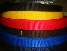 """1""""/25mm POLYPROPYLENE WEBBING 2metre VARIOUS COLOURS many uses 45% OFF"""