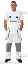 Painters Work Trousers Bib and Brace Dungarees Overalls White Style MAX Cotton.