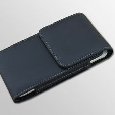 Black Leather Vertical Belt Clip Case Cover Holster for Samsung Galaxy S3 S4