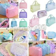Floral Transparent Waterproof Makeup Toiletry Cosmetic Bag Bath Wash Pouch Hot