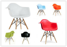 New Charles Eames Eiffel Retro DAW Wooden base Dining Arm Chairs in 6 colors