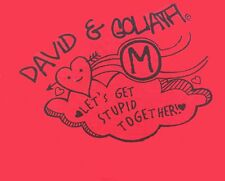 David & Goliath T-Shirts Various Designs & Sizes 100% Cotton Short Sleeves NWT