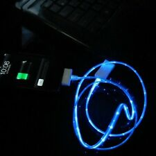 Blue Visible LED Lights UP USB Charger & Sync Data Cable For All Phones & Tablet