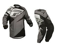Fly Racing Mx 2015 F-16 Black/Grey MTB BMX Motocross Dirt Bike Adult Gear Set
