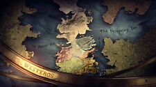 Game Of Thrones Houses Map Westeros TV Show Fabric Poster 24