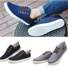 Fashion Men's Canvas Lace Up Flats Low-Top Board Shoes Casual Loafers Sneakers
