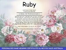 PERSONALISED CERTIFICATES -NAME MEANING & ORIGIN CERTIFICATES- BIRTHDAY GIFTS