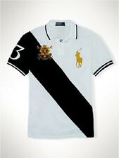 Brand New Ralph Lauren Custom Fit Big Pony Polo Shirt White/Black M/L/XL/XXL
