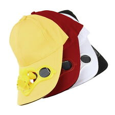 Summer Sport Outdoor Hat Cap with Solar Sun Power Cool Fan For Cycling HC