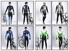 Bike Men Cycling Bicycle Jerseys Long Pant Set Outdoor Sports Team