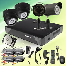 4Channel CCTV Night Vision Home Camera Security DVR System 500GB 1TB HDD