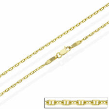 "18ct Solid Yellow Gold 16 18 20 22 24"" Inch Anchor Mariner Chain Necklace 1.5 mm"