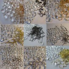 50 pcs.14 mm Crystal Octagon Chandelier Droplets with a Choice of Hanging Ties