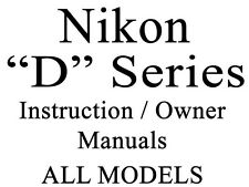 Nikon D User Guide Instruction Operator Users  Manual (ALL)