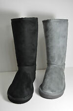 Comfort Faux Suede Faux Fur Mid- Calf SODA Soong Size 5.5-11 Bk or Charcoal