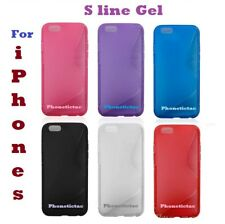 For Apple iPhone 6 S-line Wave Silicone Gel Cover Case and Screen Protector