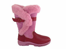 Fashion Style Genuine Leather Sheepskin Lady UGG Boots Pink Colour