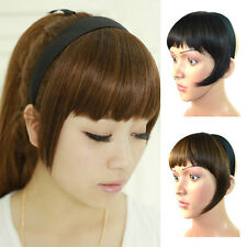 Woman Synthetic Headband Bangs Fringe Neat With Temples Wigs Hair Accessories