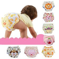Hot!Infant Baby Boy Girl Toddler Animal Pee Potty Training Pants Cloth Diapers