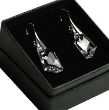 STERLING SILVER Earrings/Set made with Swarovski Crystals 18mm DE- ART