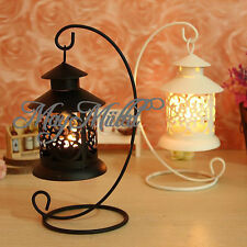 Creative Iron Moroccan Candlestick holder Candle Stand Light Holder Lantern Q