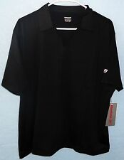 CLOSEOUT PRICE Reebok Womens Black Play Dry Polo Golf Shirt BRAND NEW WITH TAG