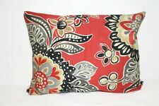 Decorative Coral, Black, Gray, and Gold Floral Pillow Cover12x16, 16x16, 18x18