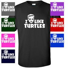 I Like Turtles Zombie Kid Funny Youtube turtle costume MENS T-SHIRT